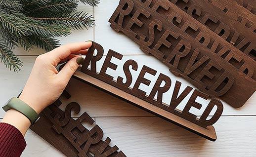 Замовити таблички для кафе та ресторанів